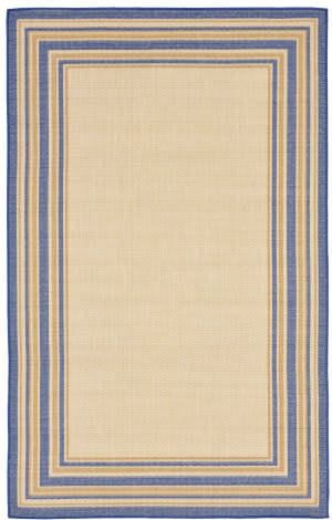 Trans-Ocean Terrace Multi Border 2763/53 Topaz Area Rug