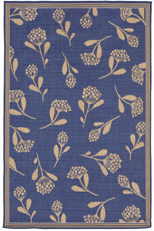 Trans-Ocean Terrace Summer Flower 2769/63 Topaz Area Rug