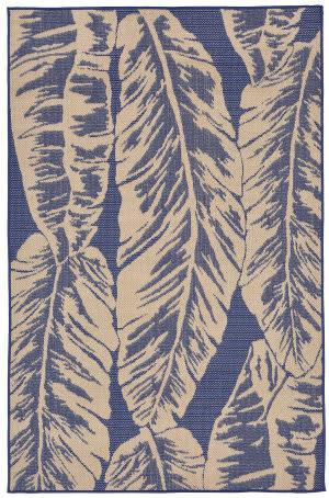 Trans-Ocean Terrace Banana Leaf 2770/53 Topaz Area Rug