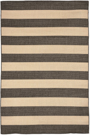Trans-Ocean Tulum Rugby 1789/77 Charcoal Area Rug