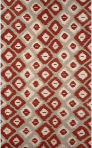 Trans-Ocean Visions Ii Ikat Diamonds 3095/24 Red Area Rug