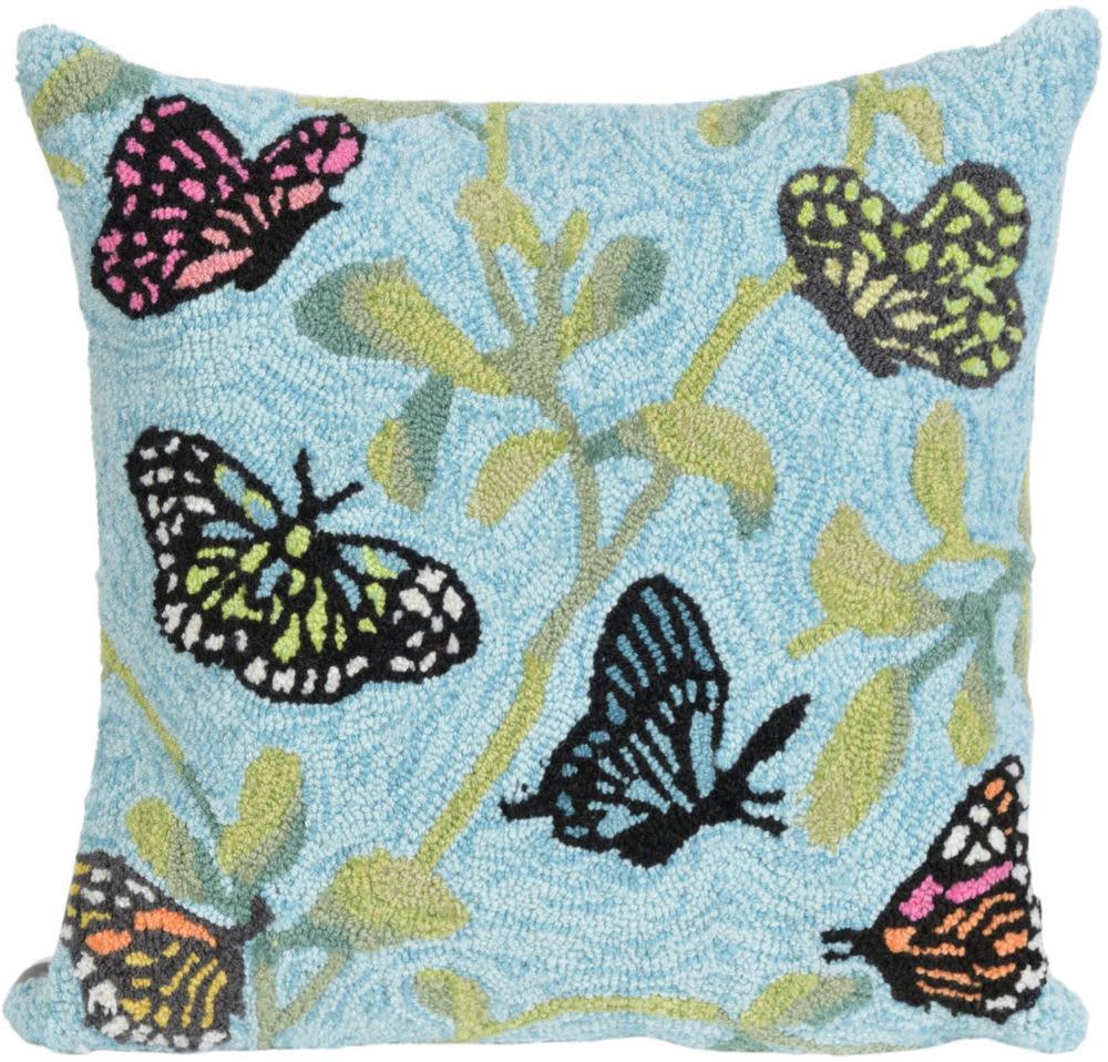 Trans Ocean Frontporch Pillow Butterflies On Tree 227406 Green Rug Studio
