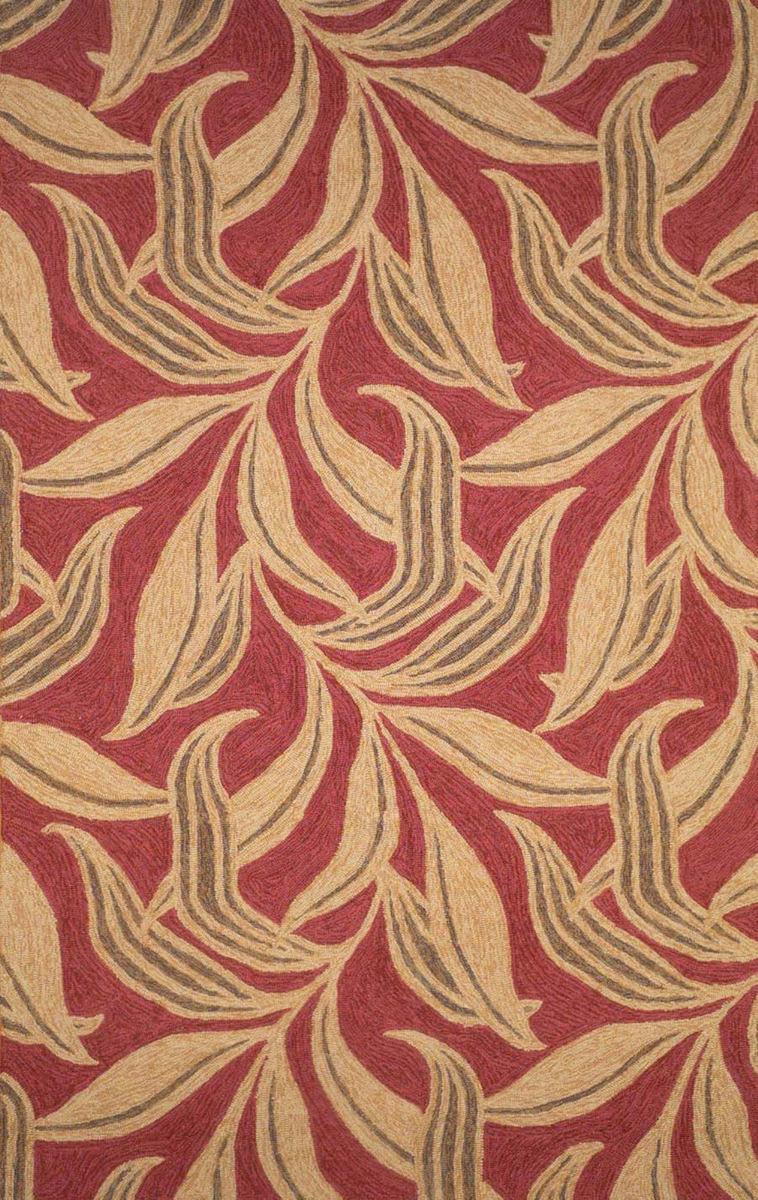 Trans Ocean Ravella Leaf 190224 Red Rug Studio