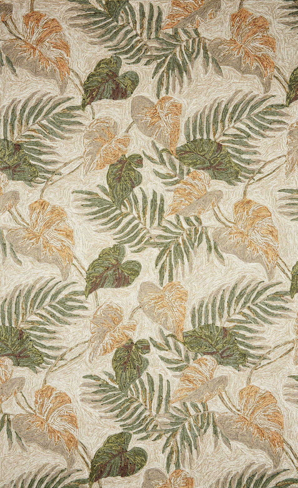 Trans Ocean Ravella Tropical Leaf 206612 Neutral Rug Studio