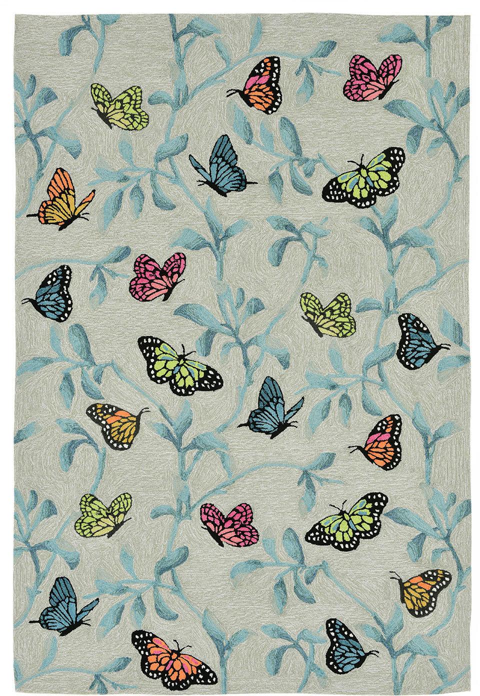 Trans Ocean Ravella Butterflies On Tree 227406 Green Rug Studio