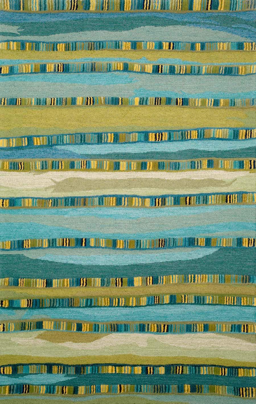 Trans Ocean Seville Mosaic Stripe 962503 Blue Rug Studio