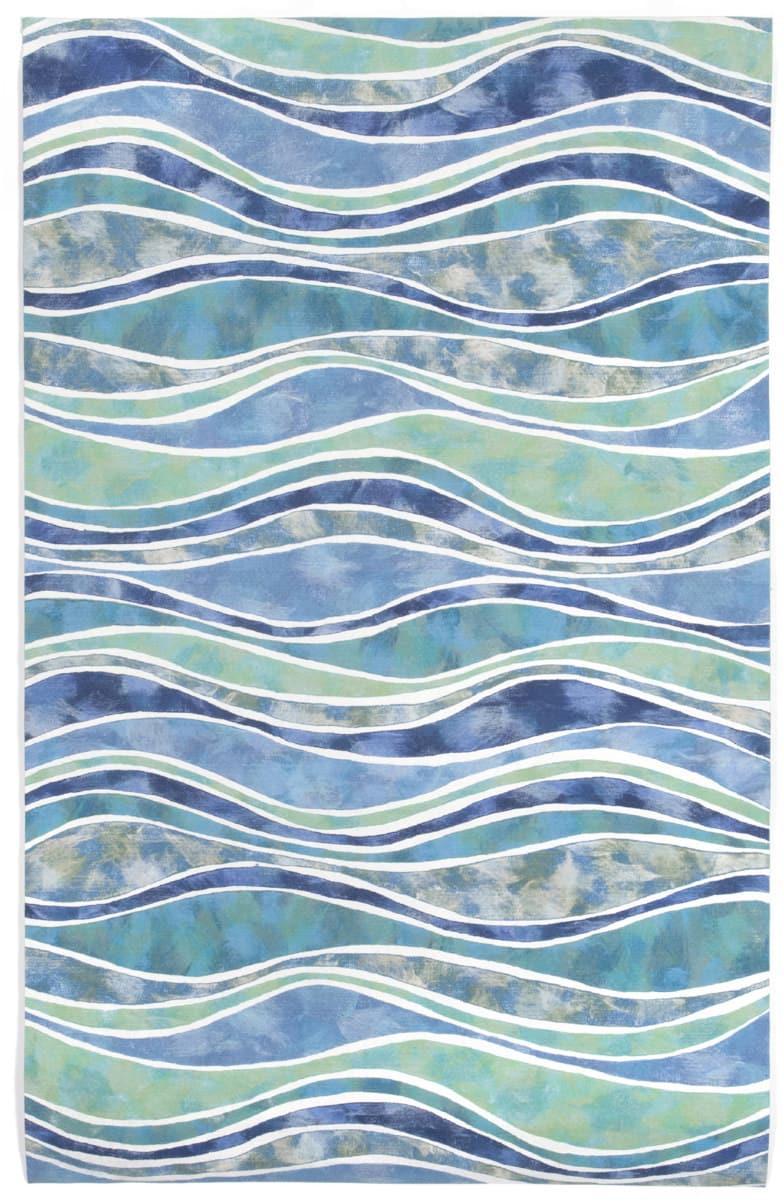 Trans Ocean Visions Iii Wave 312604 Ocean Area Rug 190300