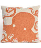 Trans-Ocean Frontporch Pillow Octopus 1432/17 Coral Area Rug