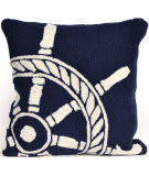 Trans-Ocean Frontporch Pillow Ship Wheel 1456/33 Navy Area Rug