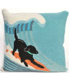 Trans-Ocean Frontporch Pillow Surfing Dog 1473/04 Ocean Area Rug