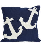 Trans-Ocean Frontporch Pillow Anchor 1664/33 Navy