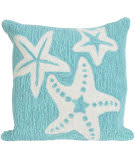 Trans-Ocean Frontporch Pillow Starfish 1667/04 Aqua
