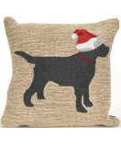 Trans-Ocean Frontporch Pillow Christmas Dog 1857/12 Neutral Area Rug