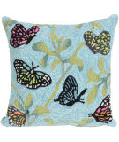 Trans-Ocean Frontporch Pillow Butterflies On Tree 2274/06 Green Area Rug