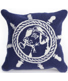 Trans-Ocean Frontporch Pillow Seadog 4332/33 Navy