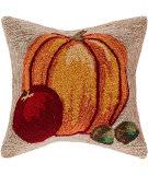 Trans-Ocean Frontporch Pillow Harvest Pumpkin 4395/12 Natural