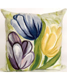 Trans-Ocean Visions Iii Pillow Tulips 3208/06 Cool Area Rug