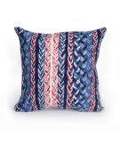 Trans-Ocean Visions Iii Pillow Braided Stripe 412503 Navy