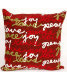 Trans-Ocean Visions Iii Pillow Peace Love Joy 4200/24 Red Area Rug