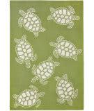 Trans-Ocean Capri Turtle 1634/16 Greenery Area Rug