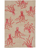Trans-Ocean Capri Octopus 1677/17 Coral Area Rug