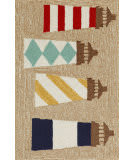 Trans-Ocean Frontporch Lighthouses 1401/12 Natural Area Rug