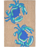 Trans-Ocean Frontporch Crabs 1404/03 Blue Area Rug