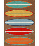 Trans-Ocean Frontporch Surfboards 1406/19 Brown Area Rug