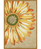 Trans-Ocean Frontporch Sunflower 1417/09 Yellow Area Rug