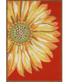 Trans-Ocean Frontporch Sunflower 1417/24 Red Area Rug