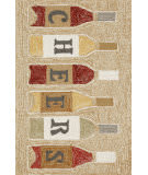 Trans-Ocean Frontporch Cheers 1434/37 Rose Area Rug