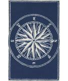Trans-Ocean Frontporch Compass 1447/33 Navy Area Rug