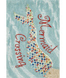 Trans-Ocean Frontporch Mermaid Crossing 1448/03 Water Area Rug
