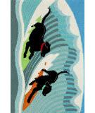 Trans-Ocean Frontporch Surfing Dogs 1473/04 Ocean Area Rug