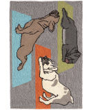 Trans-Ocean Frontporch Yoga Dogs 1488/47 Heather Area Rug