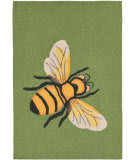 Trans-Ocean Frontporch Bee 1505/06 Green Area Rug