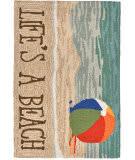 Trans-Ocean Frontporch Life's A Beach 1516/12 Sand Area Rug