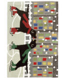 Trans-Ocean Frontporch Holiday Ice Dogs 1526/44 Multi Area Rug