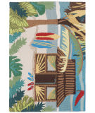 Trans-Ocean Frontporch Tiki Hut 1536/44 Multi Area Rug