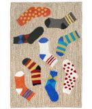 Trans-Ocean Frontporch Lost Socks 1541/94 Multi Area Rug
