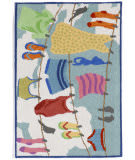 Trans-Ocean Frontporch Clothes Line 1542/44 Multi Area Rug