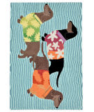 Trans-Ocean Frontporch Tropical Hounds 1583/44 Multi Area Rug