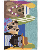 Trans-Ocean Frontporch Beach Patrol 1586/44 Multi Area Rug