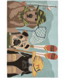 Trans-Ocean Frontporch Fishing Patrol 1591/44 Multi Area Rug