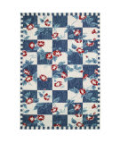 Trans-Ocean Portofino Morning Glory 7060/33 Navy Area Rug