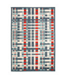 Trans-Ocean Portofino Plaid 7063/43 Nautical Area Rug