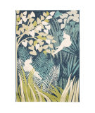 Trans-Ocean Portofino Jungle Bird 7067/04 Aqua Area Rug