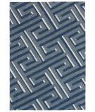 Trans-Ocean Roma Maze Blue Area Rug