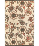 Trans-Ocean Riviera Floral Vine 7630/12 Off-White Area Rug
