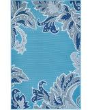 Trans-Ocean Riviera Ornamental Leaf 7648/03 Blue Area Rug